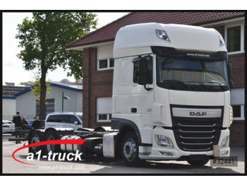 Container-transport/ vekselflak lastebil DAF XF 460 Jumbo, ZF-Intarder, ACC, 7,82 WB