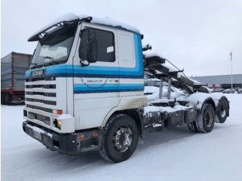 SCANIA R143 - container-transport/ vekselflak lastebil