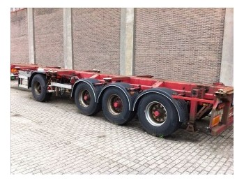 DTEC CONTAINER CHASSIS DEELBAAR 4-AS - container-transport/ vekselflak semitrailer