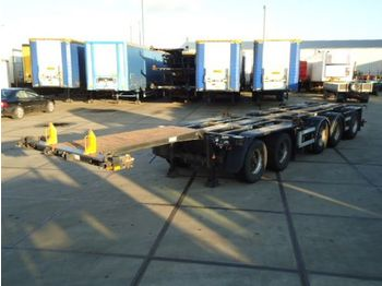D-TEC CT-53 - 53.000 Kg - 5 axle combi trailer / 2x stuur as - container-transport/ vekselflak semitrailer