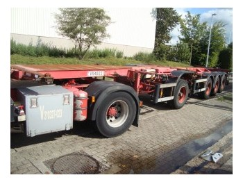 D-Tech BREAK CHASSIS 4 ASS - container-transport/ vekselflak semitrailer