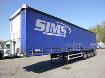 Schmitz Curtain side trailer + Dhollandia taillift - forteltet semitrailer