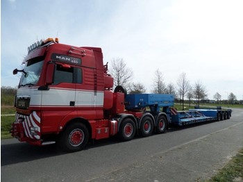 Lavloader semitrailer Goldhofer STZ-VL4-42/80A Extendable Low Loader + 5.000 mm Extension Beams