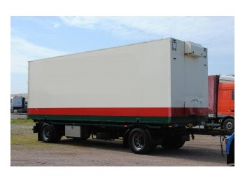 Jumbo 2 AXLE TRAILER WITH CLOSED BOX - container-transport/ vekselflak tilhenger