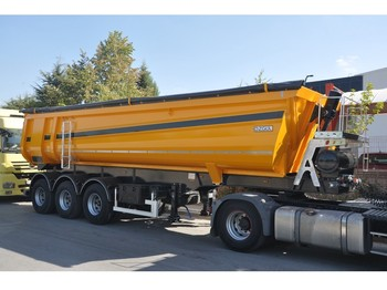 OZGUL 32 CBM 3 Axles Half Pipe Type Tipping Semi Trailer - tipp tilhenger
