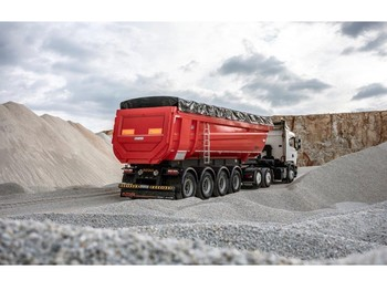 OZGUL 36 CBM 4 Axles Half Pipe Type Tipping Semi Trailer - tipp tilhenger