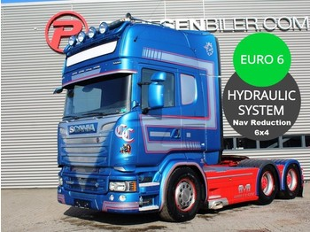 Trekkvogn Scania R580 3100mm 6x4 Huc reduction Heawy duty Truck inkl. hydr.